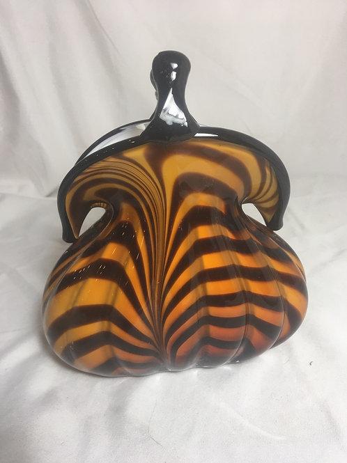 Murano Tiger Eye Purse Vase