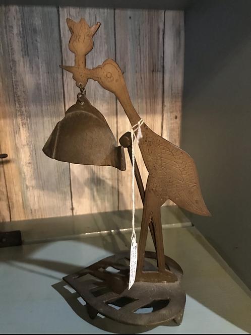Brass bird bell