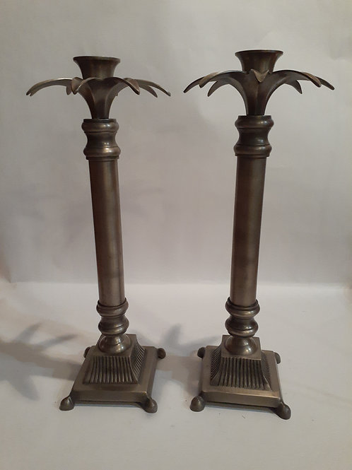 Metal Palm Tree Candle Holders