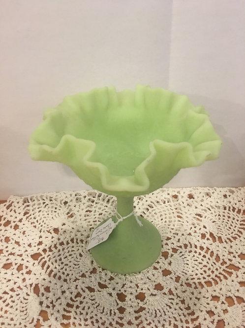 Green Ruffled Candy Dish