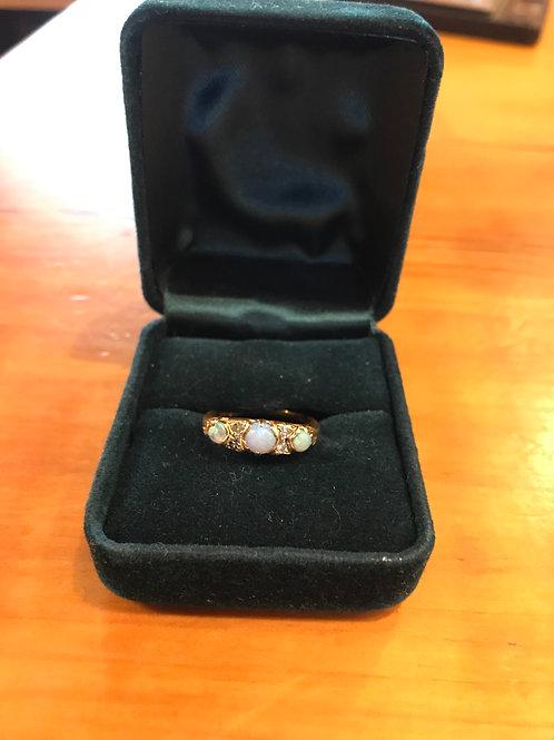 18K Opal and Diamond Ring, V7