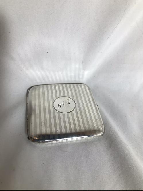 Henry Birk's Sterling Cigarette Case