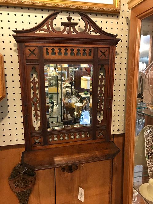 Beveled Mirror with Shelf