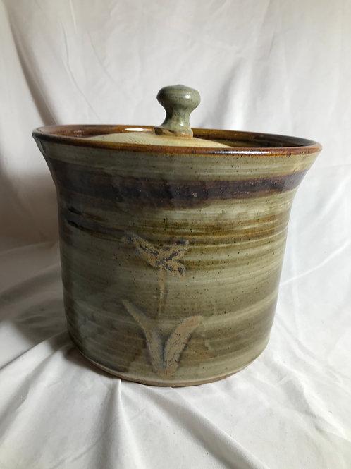 Lidded Pottery Bowl
