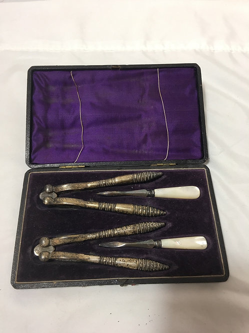 Nutcracker Set Mother of Pearl Handles