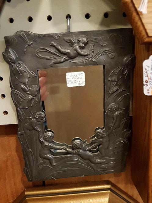 Art Nouveau Cherub Mirror