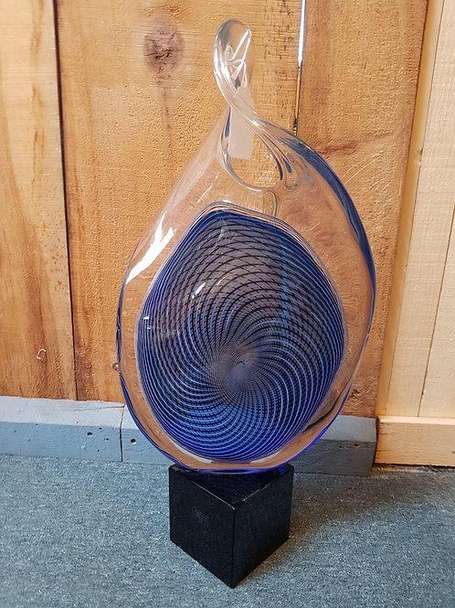 Designer glass sculpture