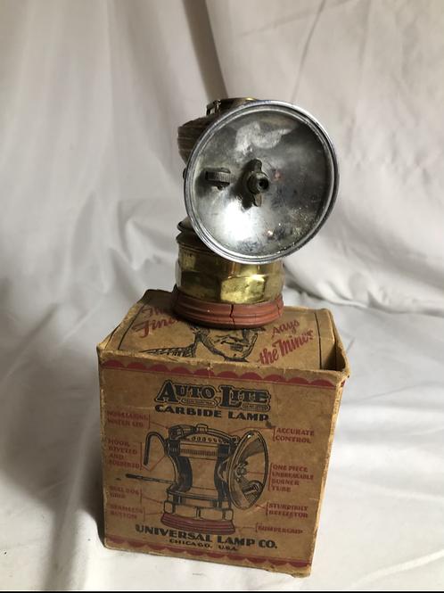 Auto Lite Carbide Miners Lamp