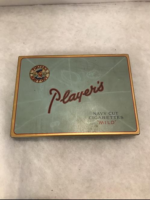 Player's Navy Cut Tin Cigarette Box