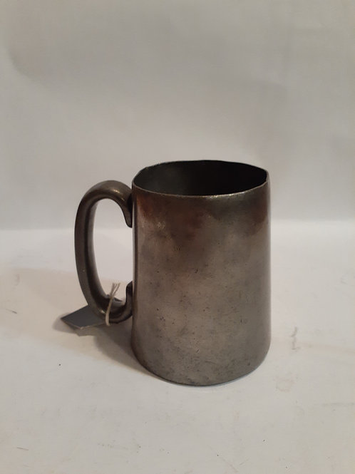19th Century Glass Bottom Pewter Mug