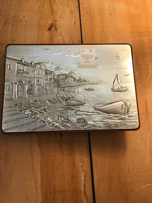 Sterling Silver Etched Scene