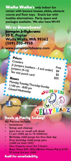Jumpin Jellybeanz Rack Card Back