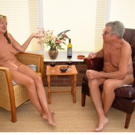 """Nudity really is a great leveller and so relaxing"""