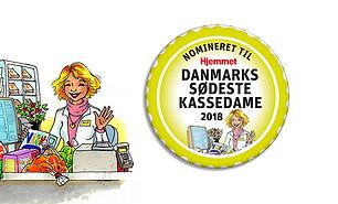Badges til Danmars sødeste kassedame 2018