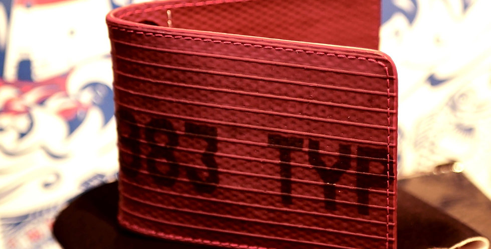 Red Fire Hose Double Card Holder