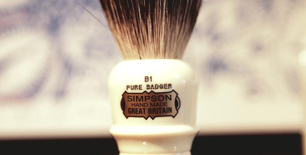 """Simpson """"The Beaufort"""" B1 Pure Badger Shaving Brush - 90mm"""