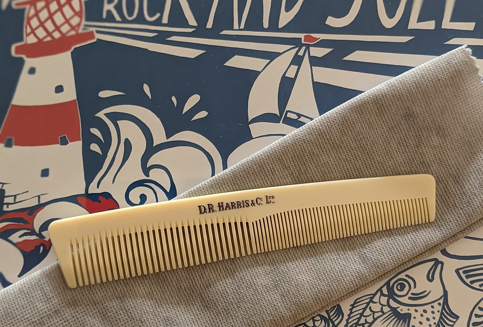 D. R. Harris faux ivory hand cut coarse and fine comb 17cm