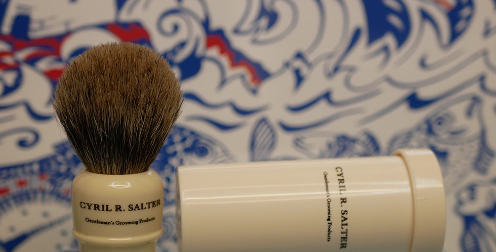 Cyril. R Salter Pure Badger Travel Shaving Brush