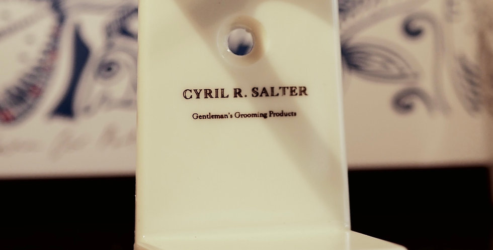 Cyril R Salter Faux Ivory Brush Stand
