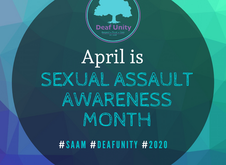 Sexual Assault Awareness Month - April 2020