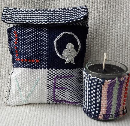Handwoven Sachet and Candle Set