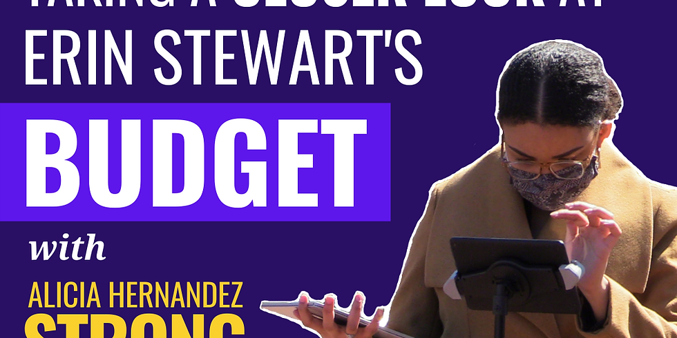 How Erin Stewart's Budget Misses the Point