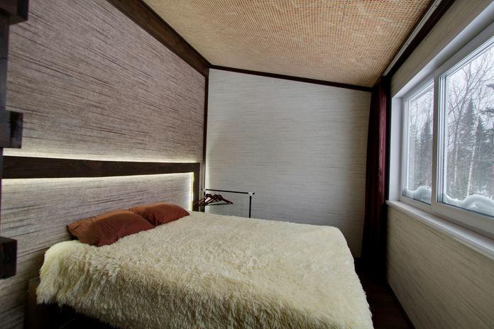 Спальня с прекрасным видом на горную долину: