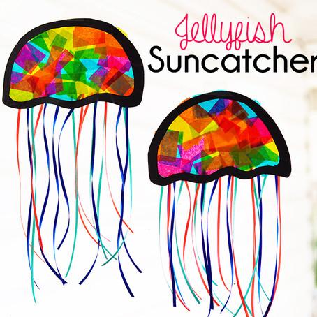 Take & Make Art Kit: Jellyfish Suncatcher