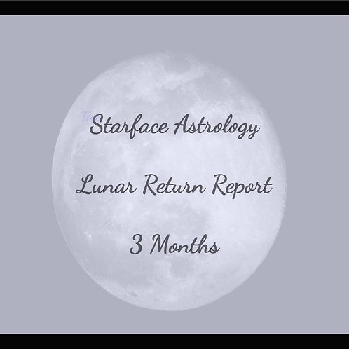 Lunar Return Report -  3 Months