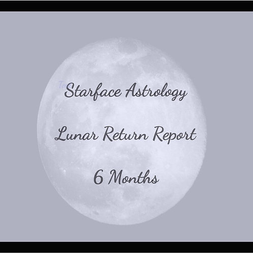 Lunar Return Report -  6 Months