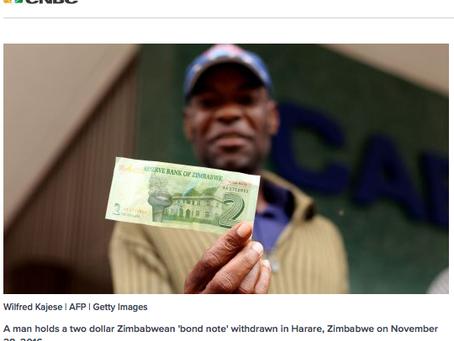 The Zimbabwae Dollar and Bitcoin. . .