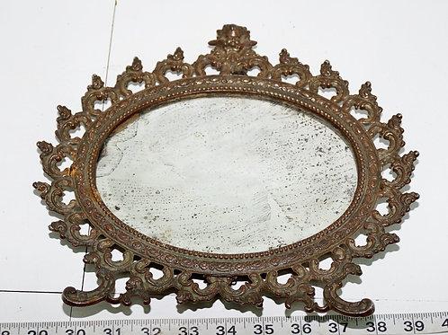 19th Century Brass Mirror Frame