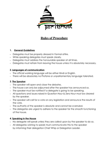 Session 7 Lok Sabha ROP