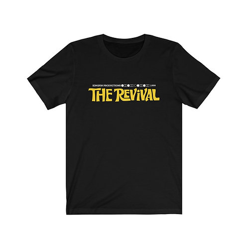 Kingpin Productions' The Revival; Black Unisex Jersey Short Sleeve Tee