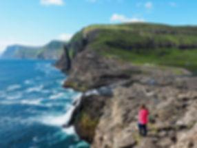 Bøsdalafossur Geituskorardrangur sørvágsvatn leitisvatn Reika Adventures Faroe Islands