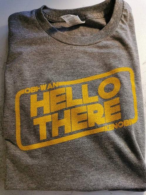 Star Wars - Obi-Wan Kenobi - Hello There T-Shirt   Vintage Print Grey   Size XL