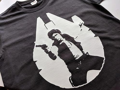 Star Wars, Han Solo Tee Shirt - Solo: A Star Wars Story - Millennium Falcon Tee