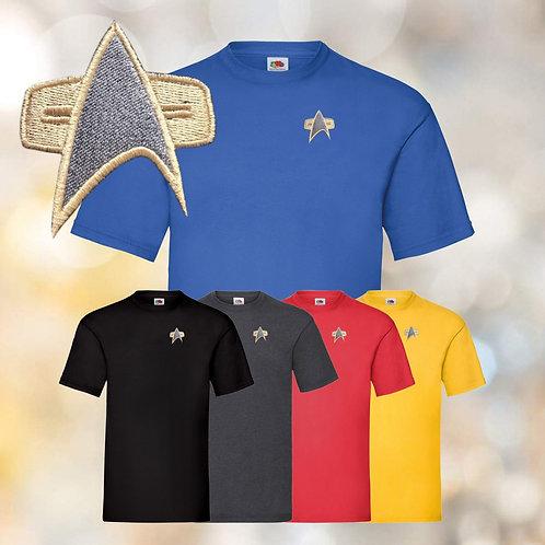 Star Trek - Starfleet Embroidered Tee Shirts - Voyager, DS9 Design