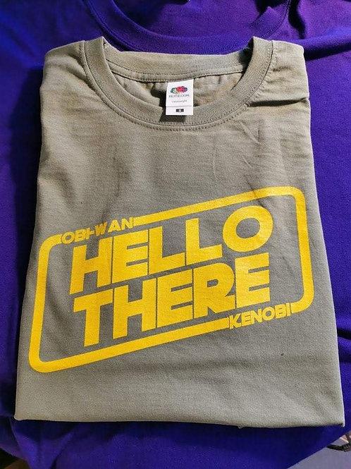 Star Wars - Obi-Wan Kenobi - Hello There T-Shirt   Green Print   Size Small