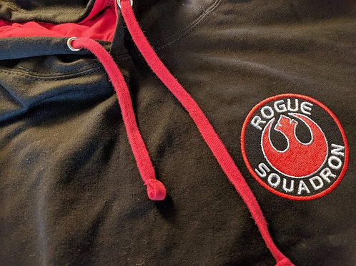 Star Wars - Rogue Squadron Embroidered Hoodie - Pull over or zip up versions ava