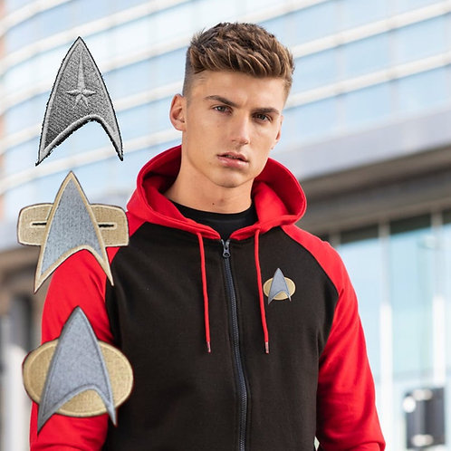 Star Trek Zip Up Baseball Hoodie | Choose from 3 logos, TOS, DS9/VOY or TNG