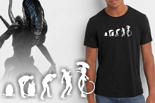 Alien evolution tee shirt. The life cycle of the Xenomorph.  Internecivus raptus