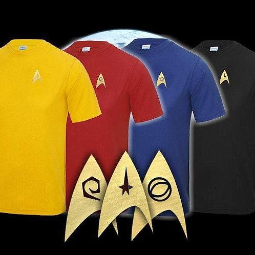 Star Trek: Divisional colour sport tee shirts - Gold Print