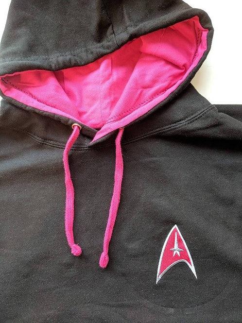 Star Trek Hoodie in Black/Pink