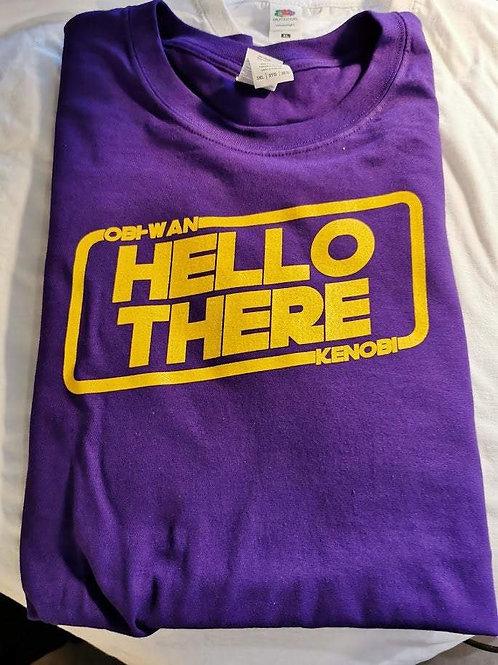 Star Wars - Obi-Wan Kenobi - Hello There T-Shirt | Purple | Size 3XL