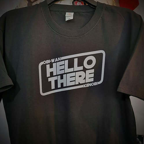 Star Wars - Obi-Wan Kenobi - Hello There T-Shirt   Grey Print