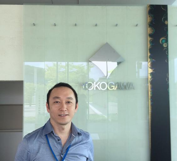 Yohei visits Yokogawa Electric Corp. in Kanazawa, Japan