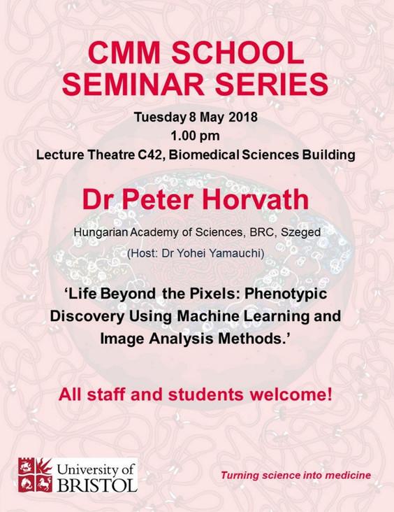 Peter Horvath seminar at CMM School Seminar Series