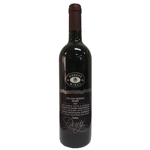 2009 Mudgee Wines William Reserve Durif