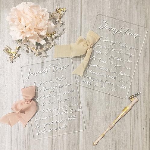 Transparent Vows Book Set